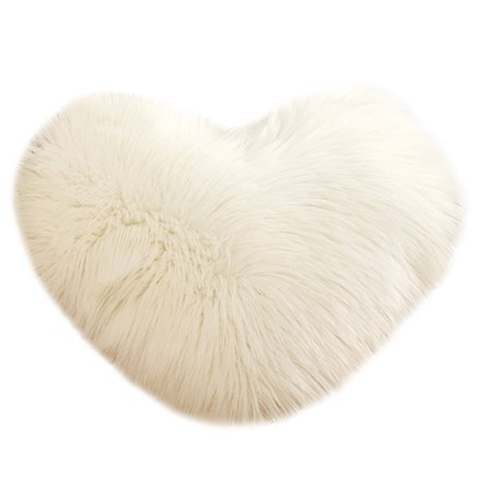 Heart Shaped Throw Pillow Cushion Plush Pillows Gift Home Sofa (Lace Heart Pillow)