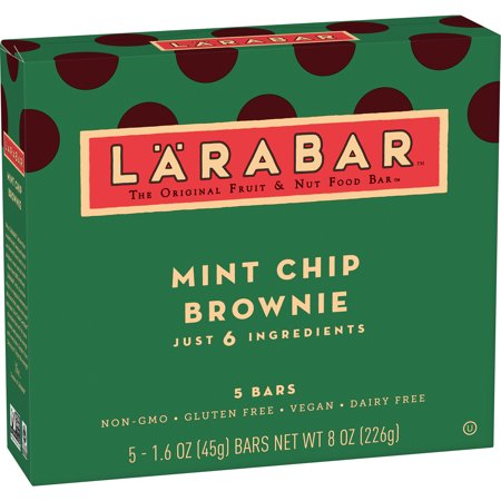 Cookie Brownie Bars - (2 pack) Larabar Gluten Free Bar, Mint Chip Brownie, 1.6 oz, 5 Ct