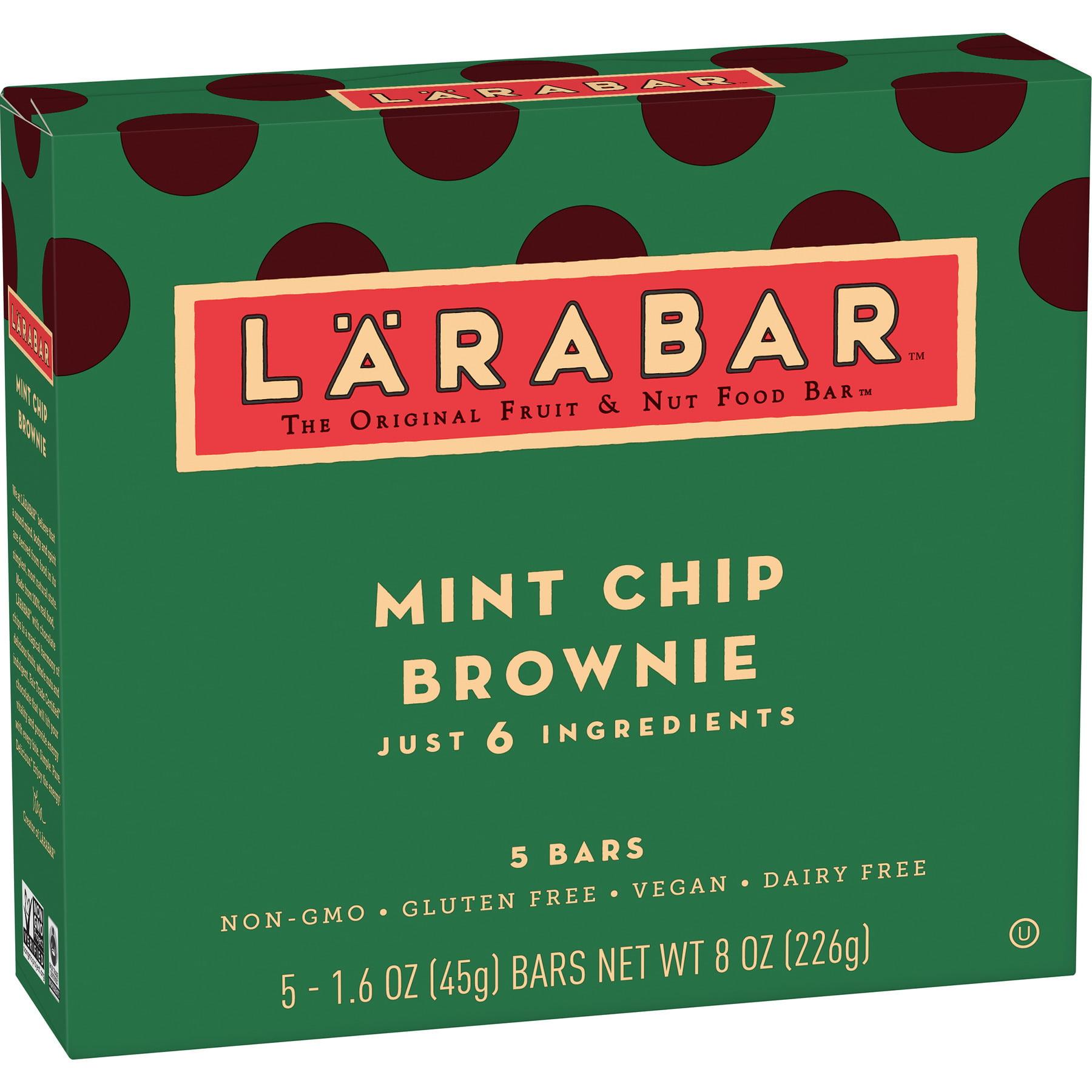Larabar Gluten Free Bar, Mint Chip Brownie, 1.6 oz Bars (5 Count)