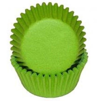 Lime - Mini Baking Cupcake Liners - 100 Count