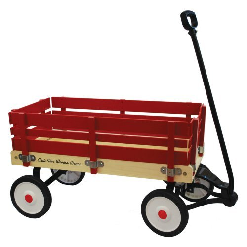 Grand Forward Little Box 34 in. Wooden Wagon
