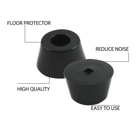60pcs Rubber Feet Bumper Furniture Table Amplifier Speaker Chair Leg Pads, D31x24xH18mm - image 1 of 7