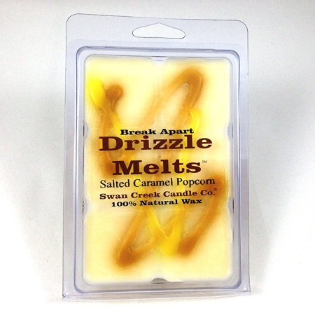 1 X Swan Creek Drizzle Melts- Salted Caramel Popcorn, 100% American Soybean Wax By Swan Creek (Best Soy Wax For Candles)