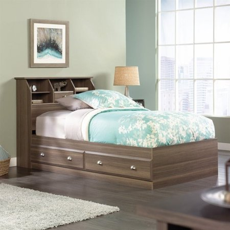 Ash Bunk Bed (Sauder Shoal Creek Twin Mates Bookcase Bed in Diamond Ash)