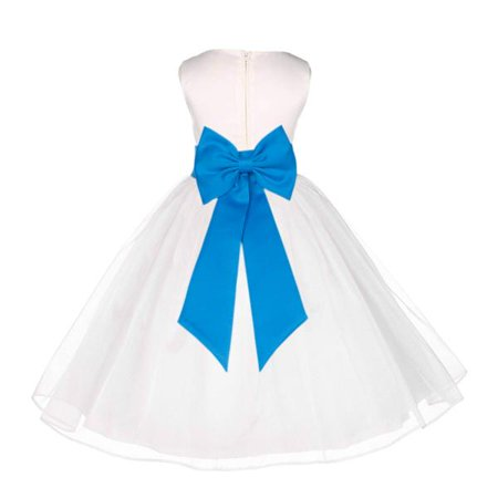 - Ekidsbridal Ivory Shimmering Organza Junior Flower Girl Dress First Communion Dress Holy Baptism Dress Christening Dress Easter Summer Dresses Special Occasion Dresses Junior Bridesmaid Dress 841T