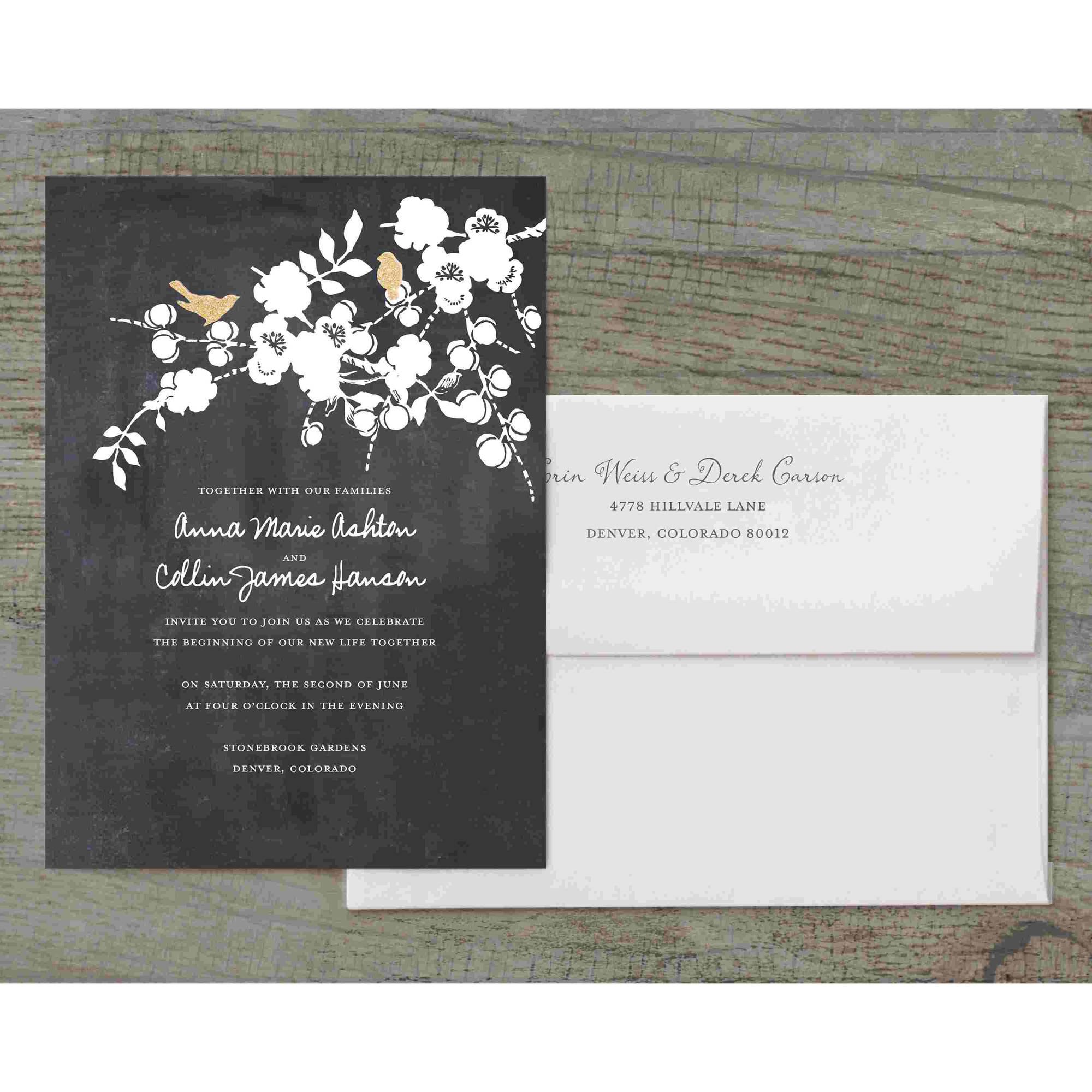 Love Birds Deluxe Wedding Invitation