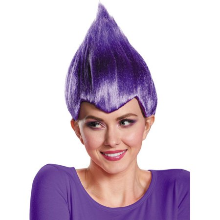 Purple Wacky Wig Adult Troll Gnome Clown Doll Costume Team Dr. Seuss 90's