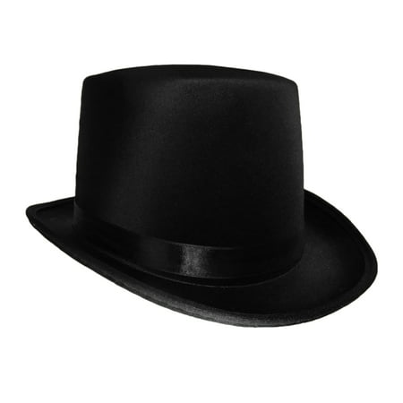 Black Satin Top Hat Magician Gentleman Adult 20's Costume Tuxedo Victorian Slash