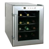 12-Bottle Wine and Beverage Cooler with Platinum Color Finish