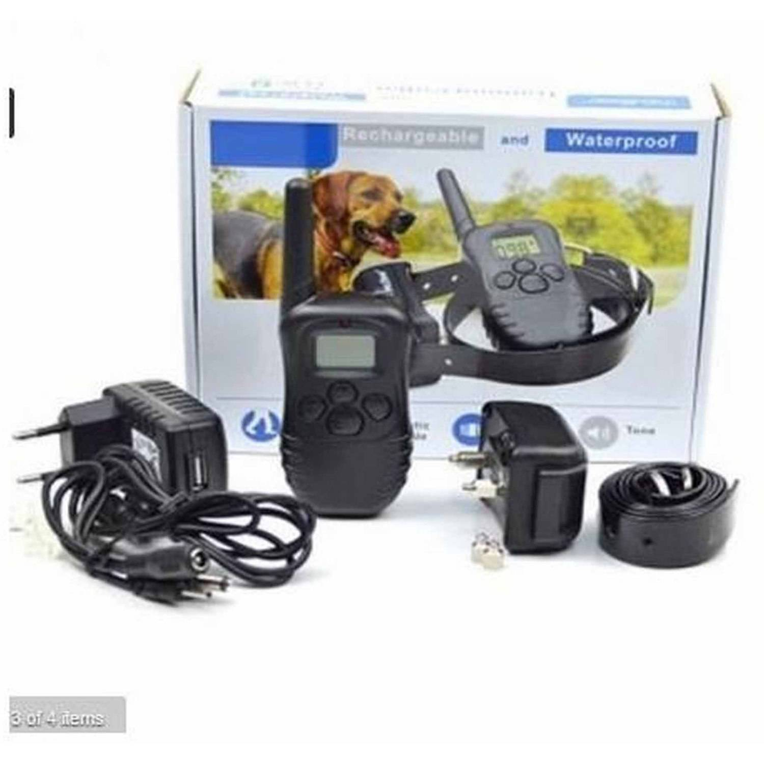 ALEKO TS-TC01 Rechargeable and Waterproof Dog Collar Training Collar