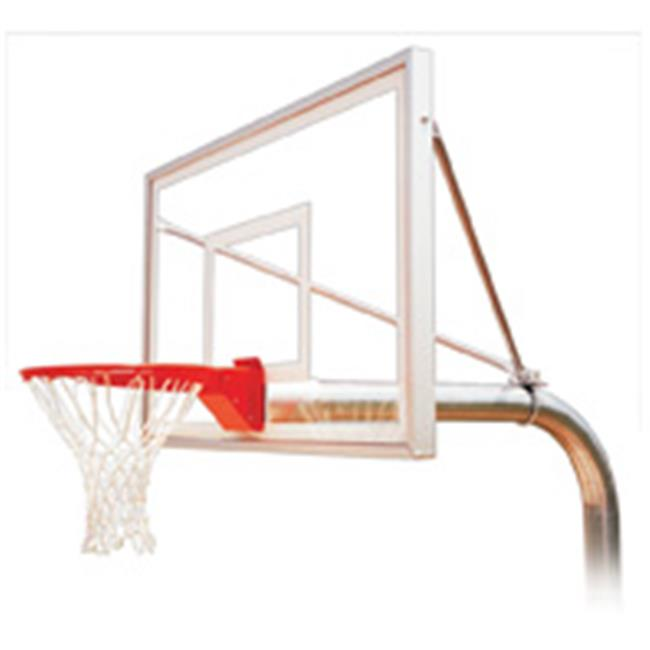 RuffNeck Select Steel-Acrylic In Ground Fixed Height Basketball System, Navy Blue