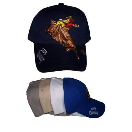 100% CowBoy Bucking Horse Rodeo Western Baseball Caps Embroidered (Rodeo8 Z) thumbnail