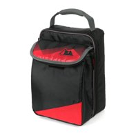Arctic Zone Expandable Upright HardBody Lunch Box with Microban Protected Easy Clean Lining, Black and Red