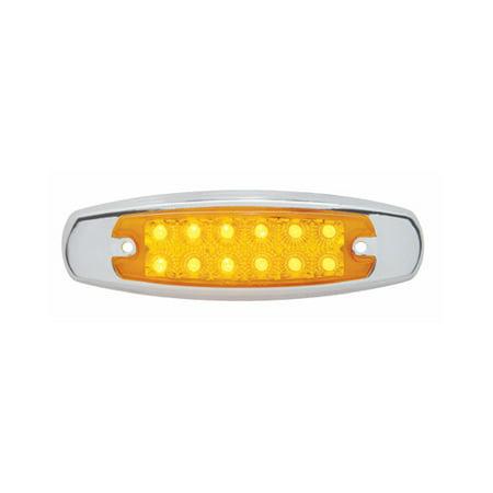 Amber 12 LED Truck Trailer Clearance Side Marker Light / Reflective Style Design