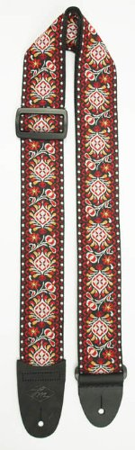 LM Products FF-15ER Retro Jaquard Strap, Electric Red Multi-Colored by L&M