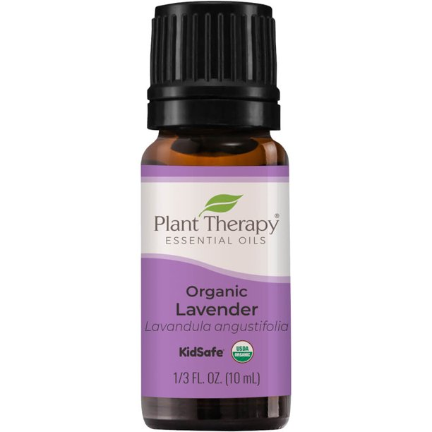 Plant Therapy Organic Lavender Essential Oil 100% Pure, USDA Certified Organic, Undiluted 10 mL (1/3 oz)