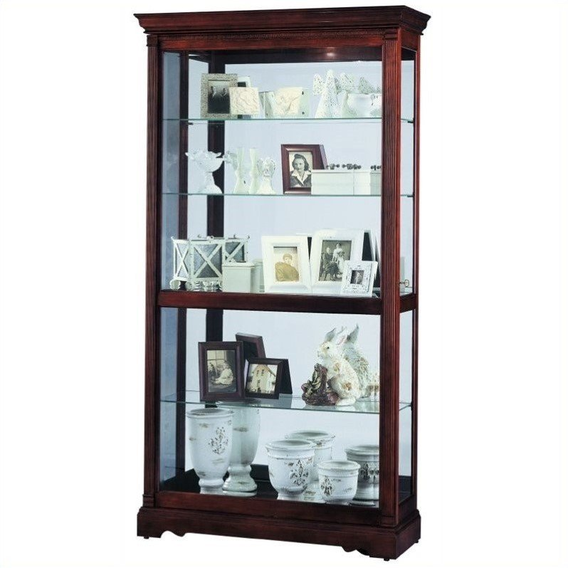 Howard Miller Dublin Traditional Display Curio Cabinet by Howard Miller