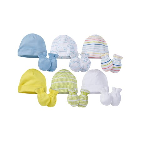 Onesies Brand Caps and Mittens Accessories Set, 12pk Bundle (Baby Boys or Baby Girls, Unisex) - Cheap Plus Size Onesies