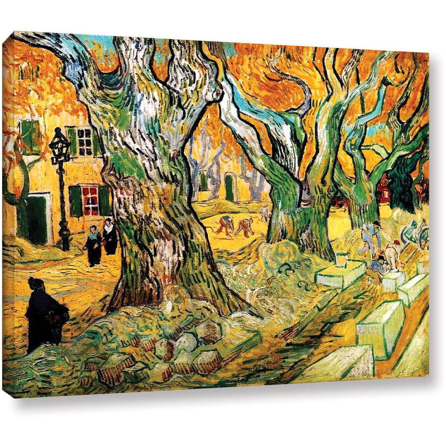 "Vincent Van Gogh ""The Road Menders"" Wrapped Canvas Art"