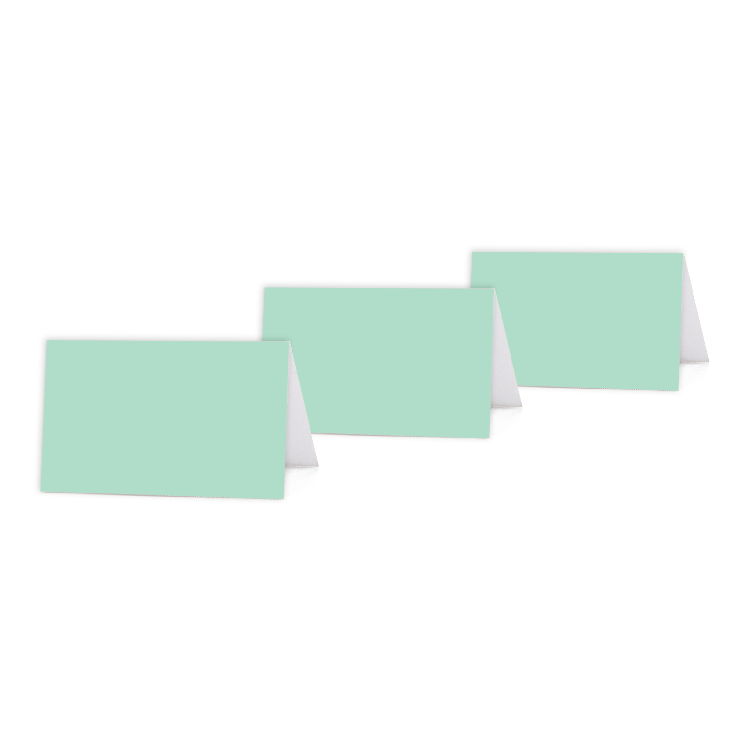 image about Printable Placecards known as Mint Environmentally friendly Coloration Blank Desk Tent Printable Vacation spot Playing cards, 20-Pack