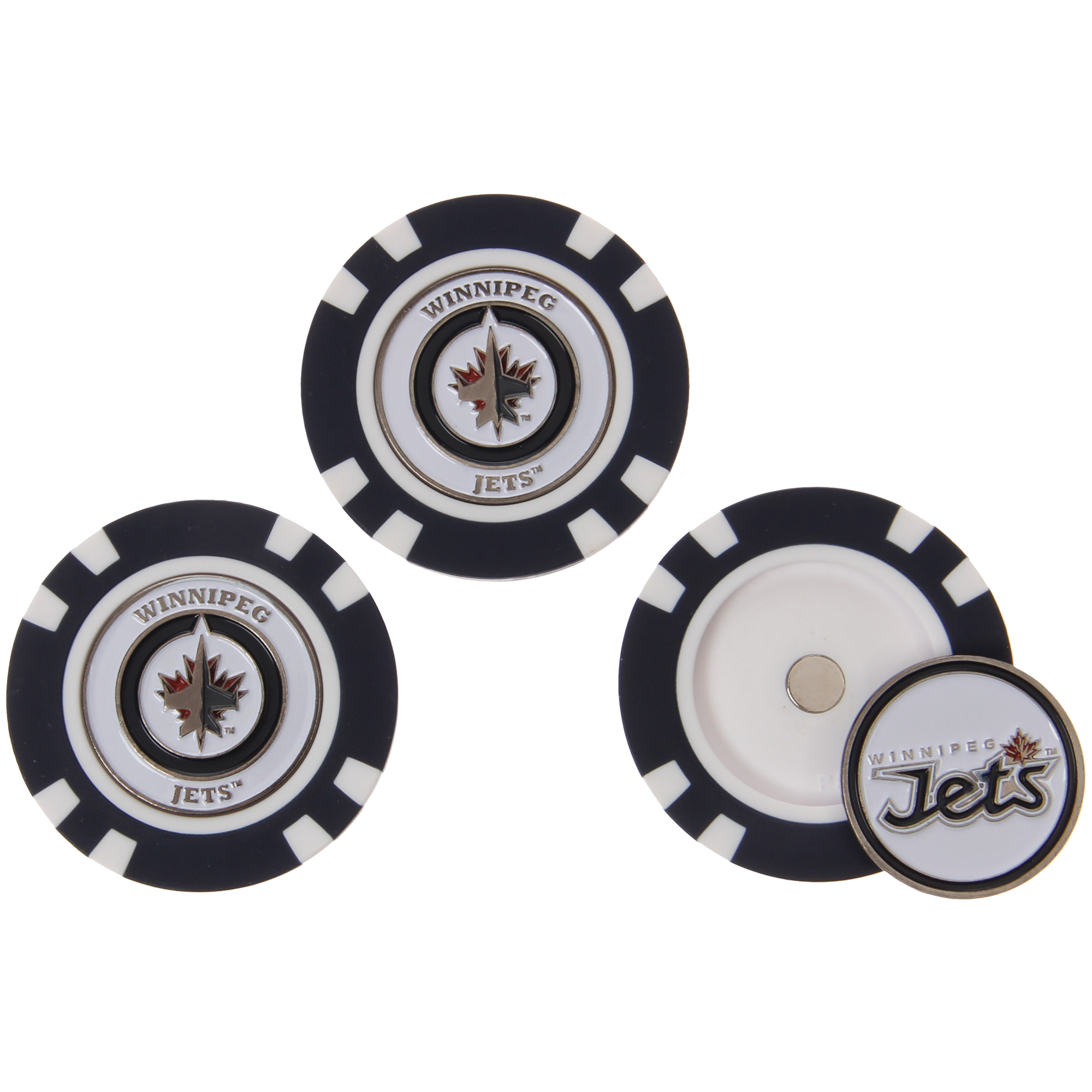 Winnipeg Jets 3-Pack Poker Chip Golf Ball Markers - No Size
