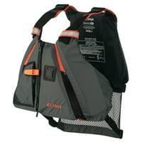 "Onyx 122200-200-040-14 MoveVent Dynamic Vest - Medium/Large (36""-44"" Chest), Orange/Gray"
