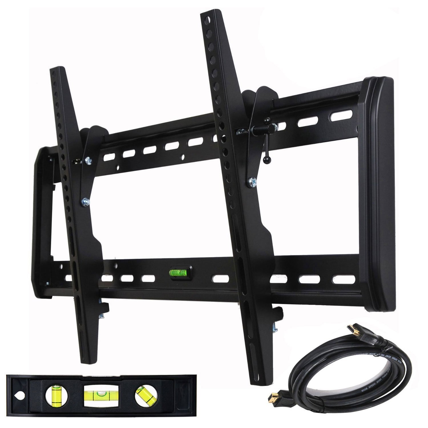 "VideoSecu Tilt TV Wall Mount for 32""-65"" LED LCD Plasma Flat Panel Screen Display Bracket Heavy Duty with HDMI Cable B54"