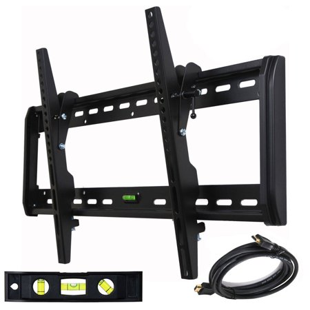 VideoSecu Tilt TV Wall Mount for 32″-65″ LED LCD Plasma Flat Panel Screen Display Bracket Heavy Duty with HDMI Cable B54