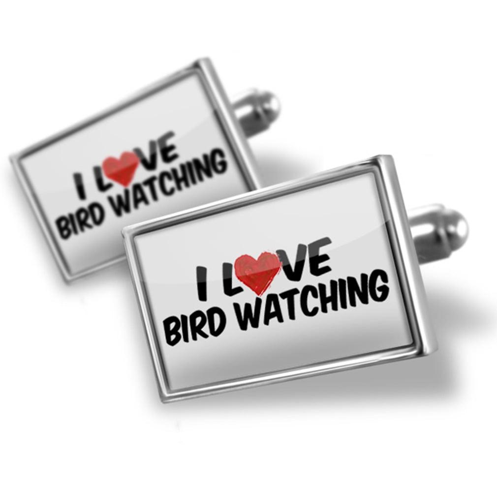 Cufflinks I Love Bird watching - NEONBLOND