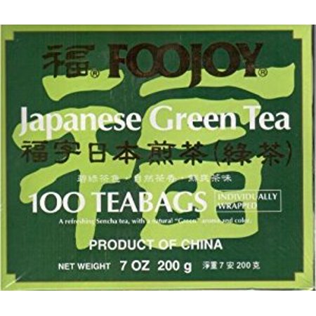 Foojoy Japanese Green Tea  100 Individually Wrapped Tea Bags ()