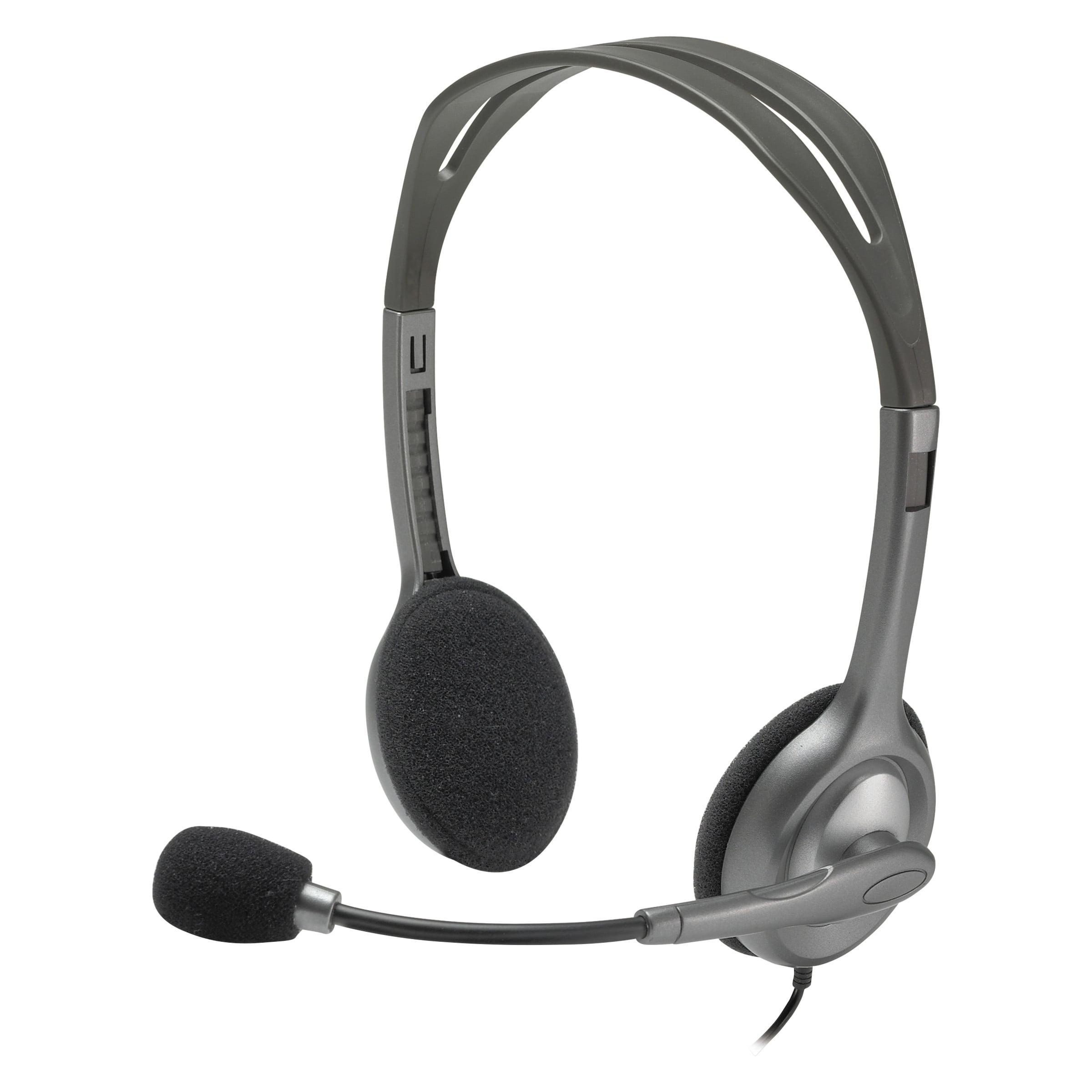 Logitech H111 Binaural Over-the-Head, Stereo Headset, Black/Silver