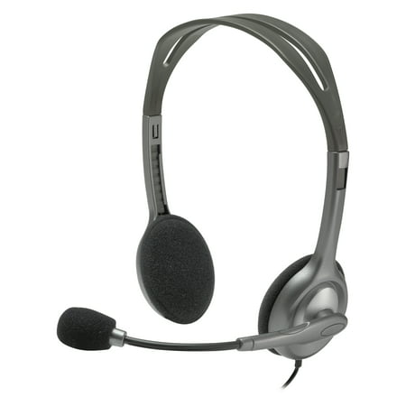 Logitech H111 Binaural Over The Head  Stereo Headset  Black Silver