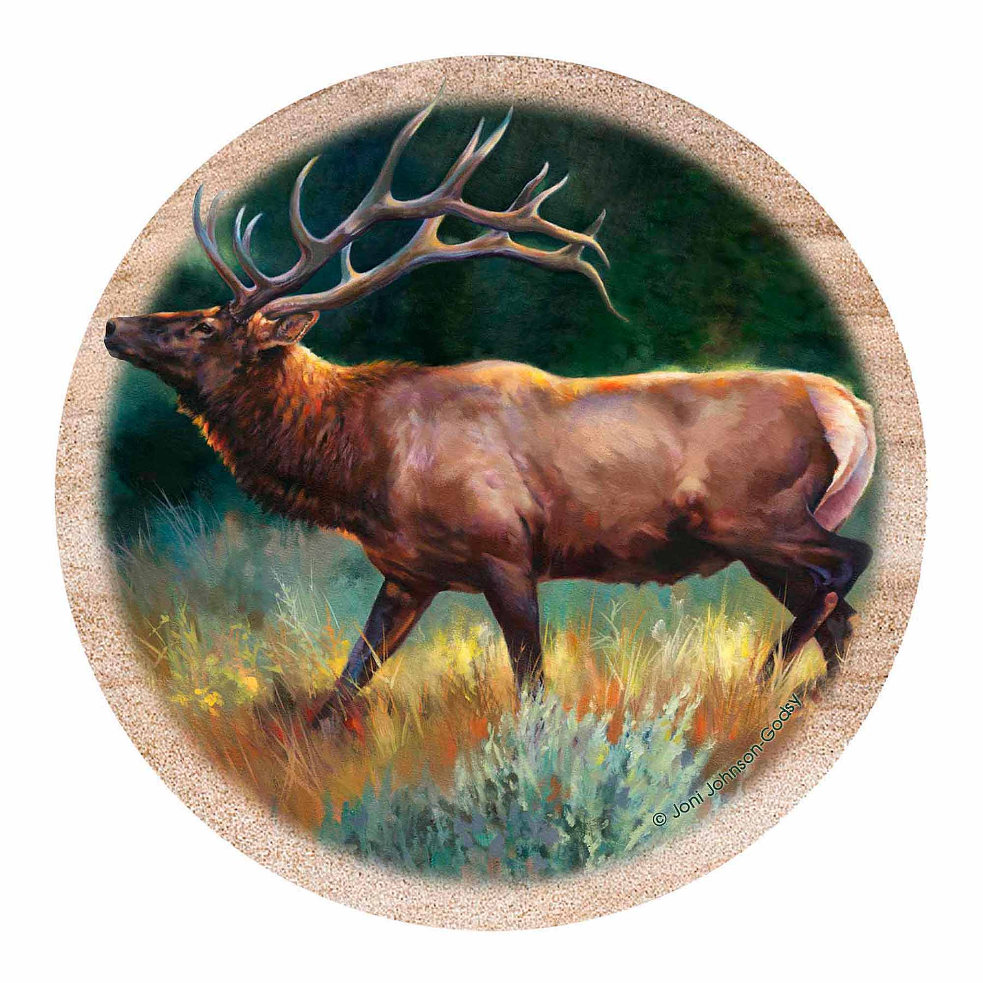 Thirstystone Drink Coasters Set, Elk