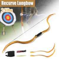 50'' Archery Hunting Take Down Recurve Bow Handmade Wood Mongolia Bow Draw Weight 25lbs Traditional Hunting Horse Bow Outdoor Long Type