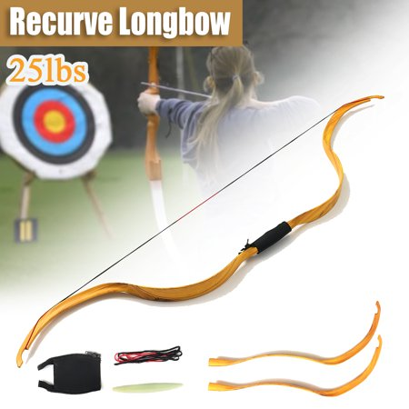 50'' Archery Hunting Take Down Recurve Bow Handmade Wood Mongolia Bow Draw Weight 25lbs Traditional Hunting Horse Bow Outdoor Long Type thumbnail