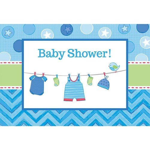 Baby Shower Boy Shower with Love Invitations, Pack of 8