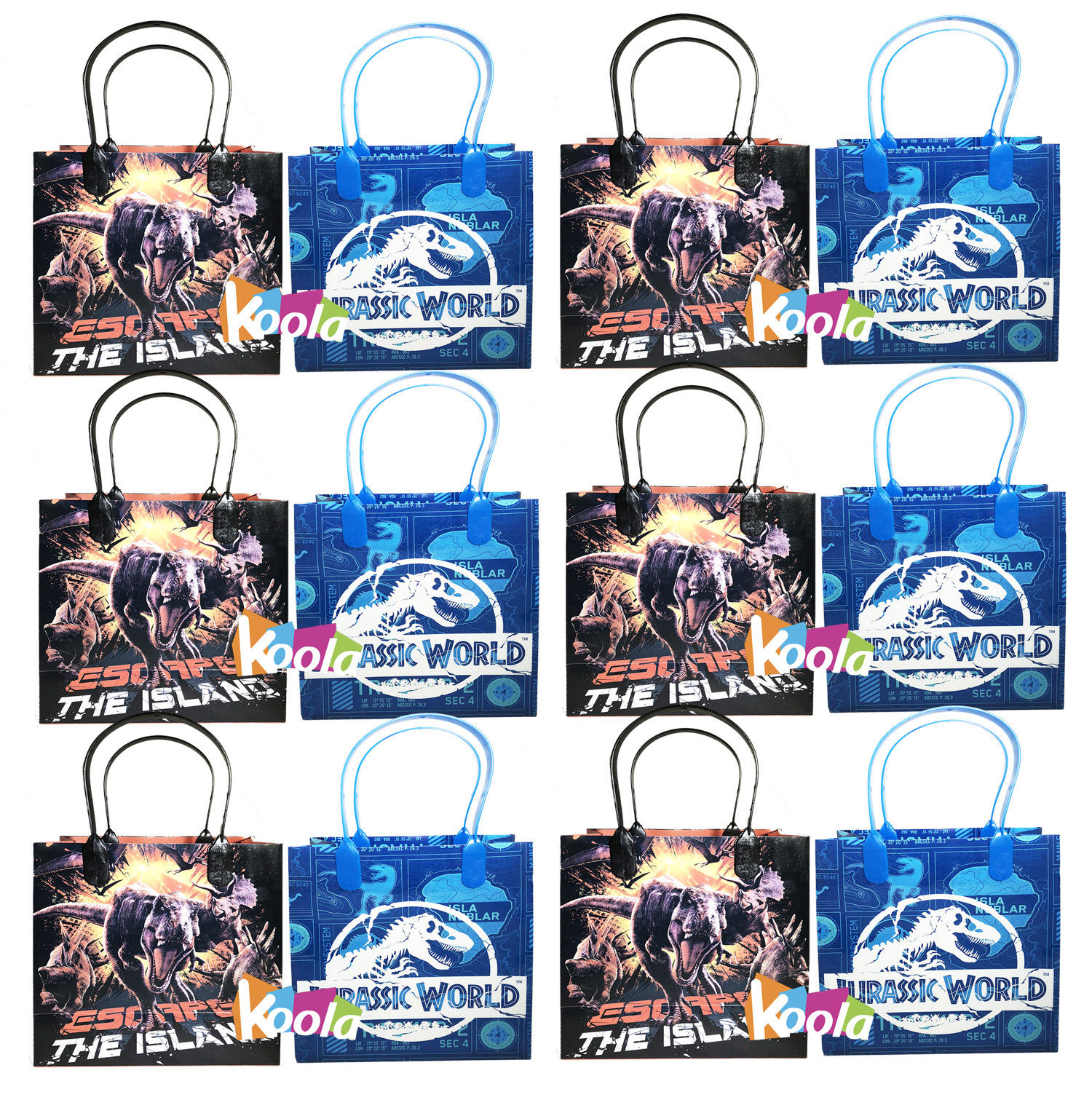 Jurassic World Party Favor Goody Loot Gifts Candy Bags Assorted 12pcs Mixed color