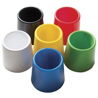 School Smart Plastic Water Pot Set, 4-3/4 x 3-1/2 Inches, Assorted Color, Set of 6