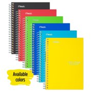 """Five Star Personal Spiral Notebook, College Ruled, 7"""" x 4 3/8"""", Assorted (45484)"""