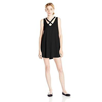 RVCA junior's visions tank dress, black, large