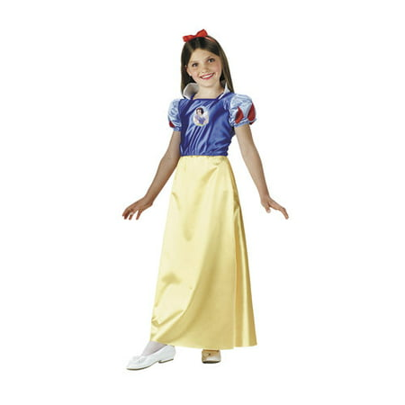 Snow White Child Halloween Costume, One Size - S (4-6) - 89 North Halloween