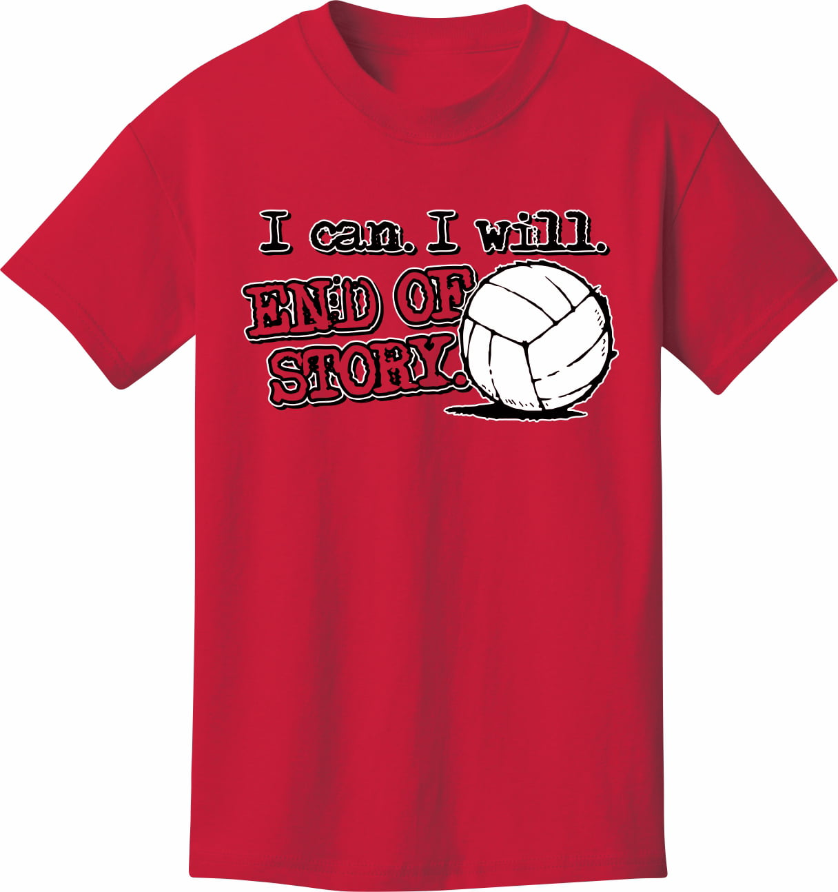 Volleyball T Shirt End Of Story Volleyball Walmart
