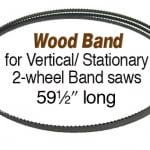 "Olson Saw Wood Band Saw Blade 3/8 by .014 inch, 4-TPI Hook 59-1/2"""