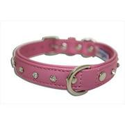 Angel Pet Supplies 41102 Athens Rhinestone Dog Collar in Bubblegum Pink