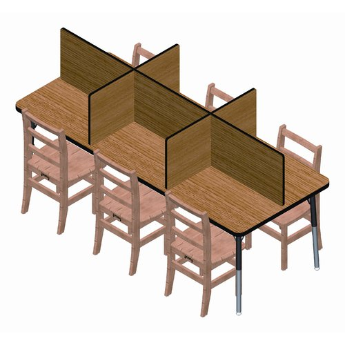 Jonti-Craft Laminate Study Carrel 6 Panel Desk Privacy Panel by Jonti-Craft