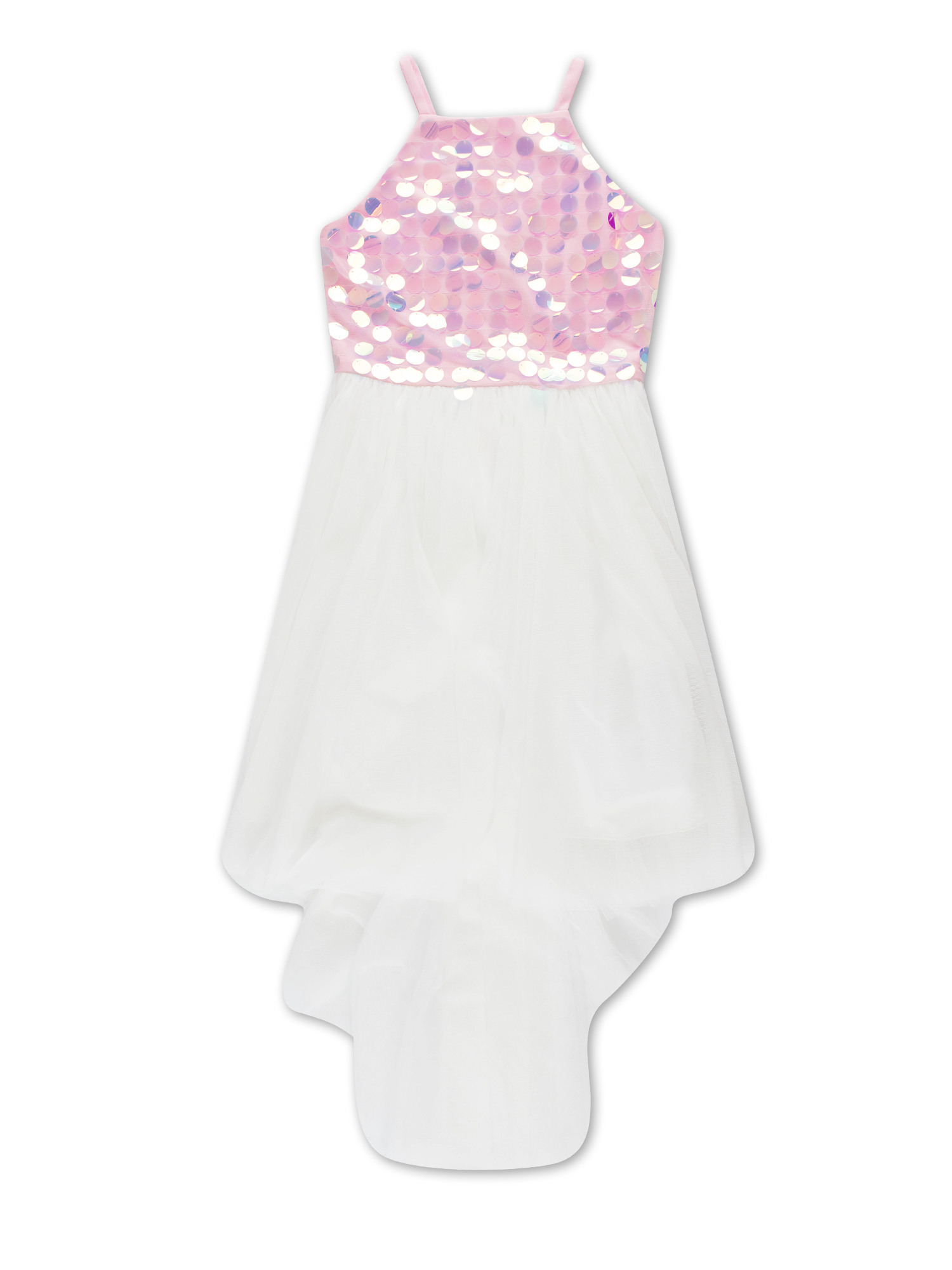 Sequin and Tulle Hi-Lo Occasion Dress (Big Girls)