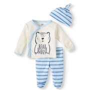 Gerber Organic Cotton Take Me Home Outfit Set, 3Pc (Baby Boys)