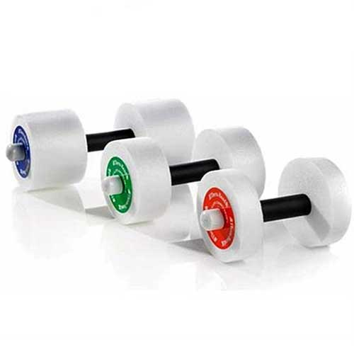 Thera-Band Aquatic Exercise Dumbells Padded Hand Light/Red