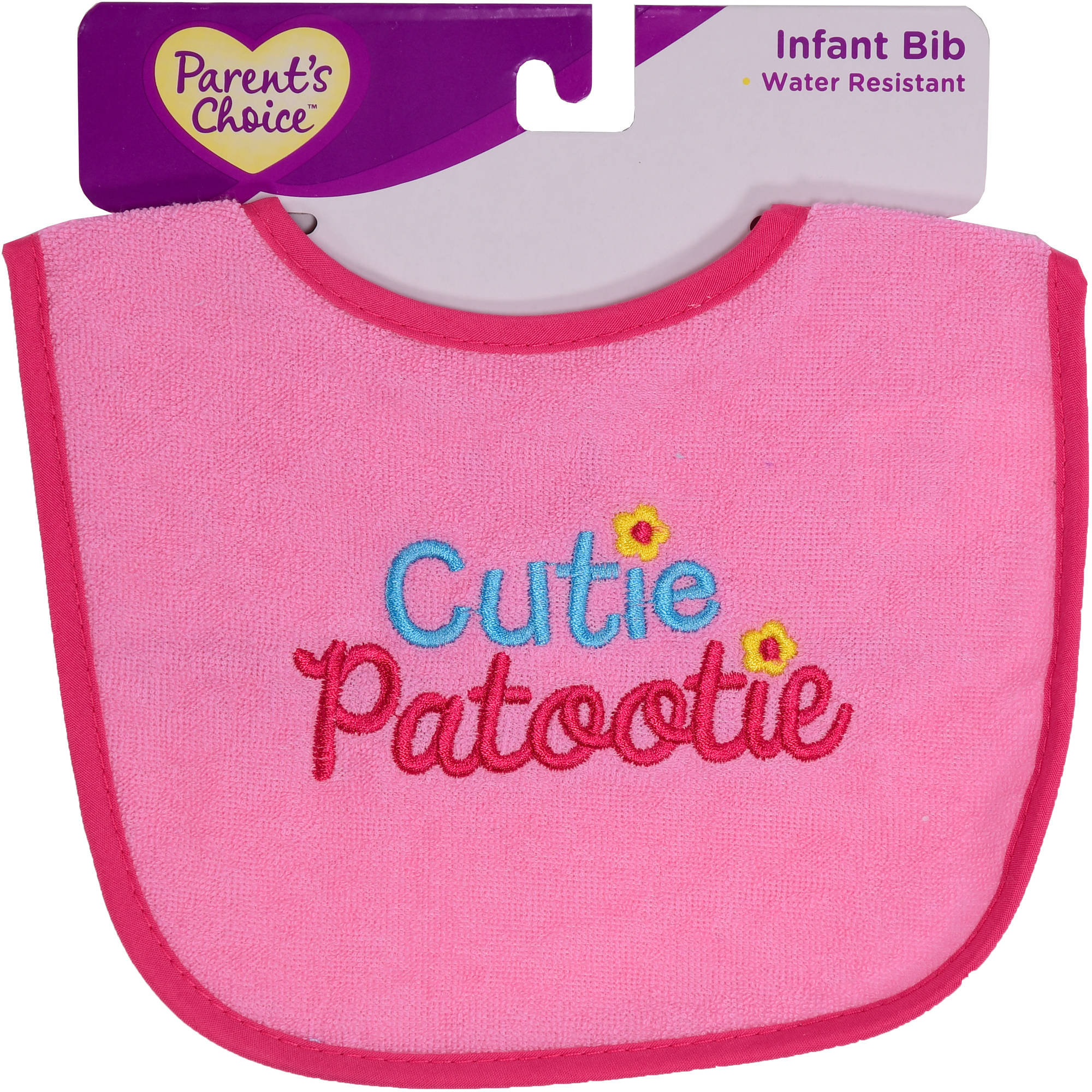 Parent's Choice Infant Bib, Pink, 1 Count