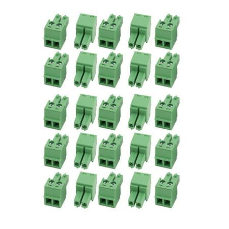 25Pcs LC1 AC300V 8A 2P au pas 3.81mm bornier rapport fil PCB - image 2 de 2